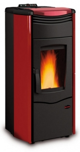 Termostufa a pellet Melinda Idro Steel colore bordeaux